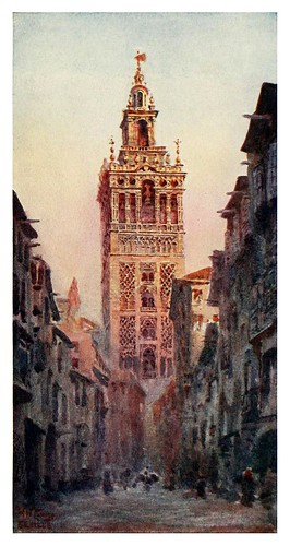 001-Sevilla-La torre de la Giralda-Cathedral cities of Spain 1909- W.W Collins