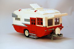 Miniland Scale Version of Bill Ward's Shasta Teardrop Travel Trailer