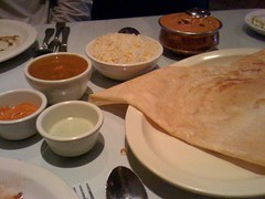 paneer dosa & lamb pasanda - happy thanksgiving
