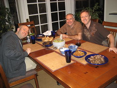 Johnny, Jon and Tim get ready to eat. (11/01/2009)