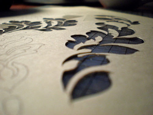 Damask Stencil - We're Not Much More Than Anything..