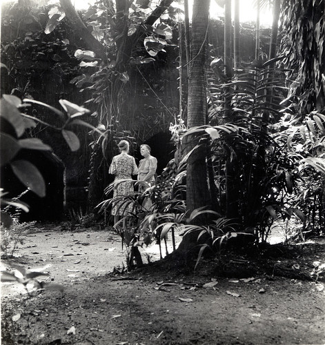 Marian Fairchild and Mrs. George Fairchild in Victoria Gardens, Manila
