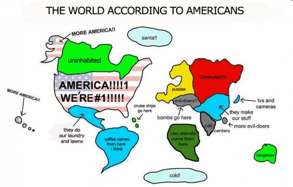 Another World According to Americans... this one with barely sufficient exclamation points.