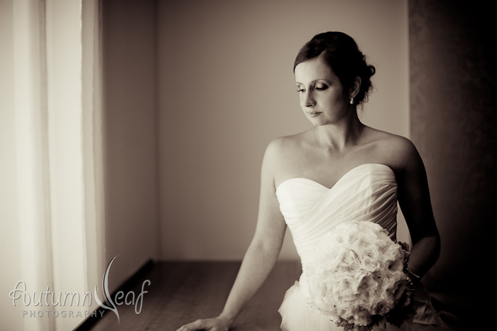 Simone and Jeremy Wedding - Portrait by the window (by Autumnleaf Photography)