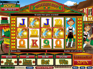 free Wooden Boy slot bonus game