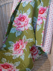 Nicey Jane Hello Roses in Olive (Sweet Baby Jamie) Tags: jane heather bailey quilts nicey wholecloth