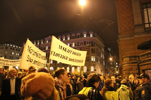 Rally against Obama in Oslo