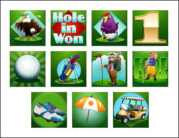 free Hole in Won slot game symbols