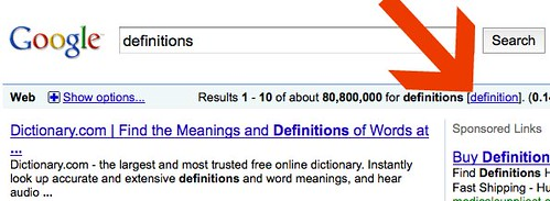 Answers.com Dropped for Google Definitions