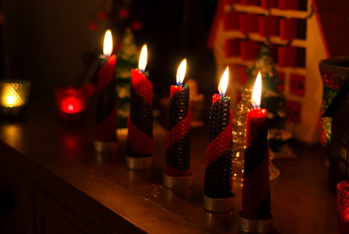 the yule candles are burning