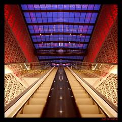 moving stairs (sediama (break)) Tags: germany geotagged dresden pentax shoppingmall k20d sediama centrumgaleriedresden hernhutersterne ©bysediamaallrightsreserved