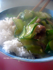 Fried Cucumber and Pork Top Rice (349) (11) Tags: rice chinesefood cucumber pork homemade  day349      349365