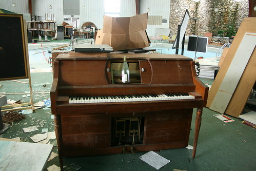 There's always an abandoned upright piano