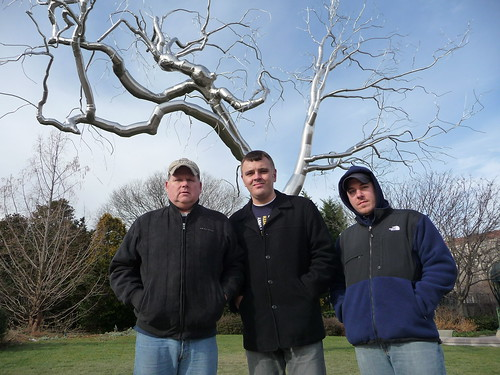 Mike, Kurt and Garrett at Sculpture Garden in Washington, DC
