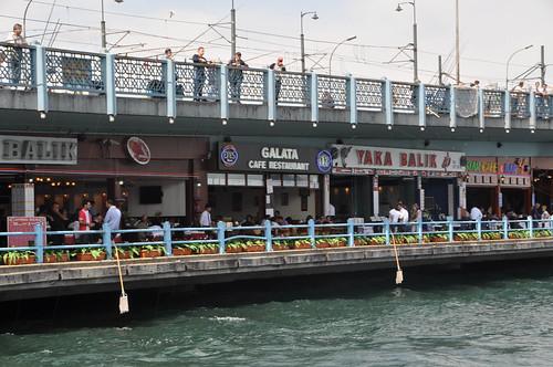 Restaurantes de pescado del Puente Galata