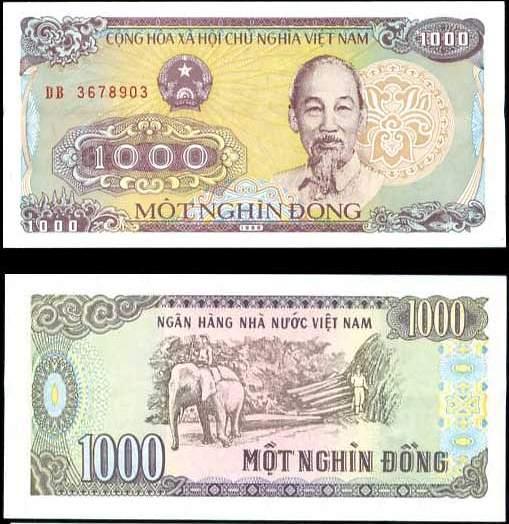 1000 Dong Vietnam 1988(1989), Pick 106