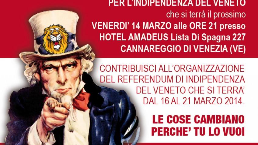 Сбор сторонников отделения Венето от Италии