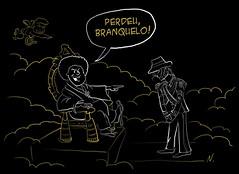 Perdeu, branquelo! (Cac Jouclas) Tags: michaeljackson jacko blackorwhite branquelo jesusnego liberaobadar