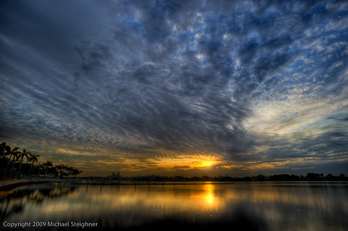 Sunrise over the intracoastal - West Palm Beach