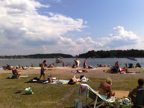 Hot summer at the beach in Oslo Norway #5