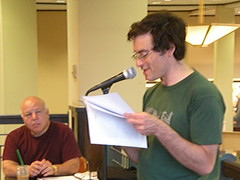 The Write Group Reads, June 19, 2009: Me With Carl Selinger by smaginnis11565