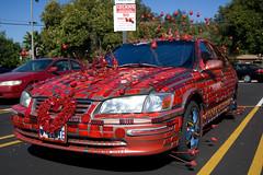 ♥ LENIE (dogwelder) Tags: california red decoration july zurbulon6 artcar 2009 shermanoaks reflectors zurbulon antennaballs curbfeelers