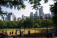 Softball Game (shiftdnb) Tags: park city nyc newyork game building skyline skyscraper athletics centralpark excercise metropolis softball bigapple essexhouse