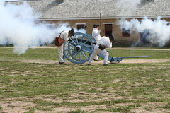 Firing 3 (lars hammar) Tags: blue history minnesota army fire fort military smoke stpaul historic cannon reenactor cannonball fortsnelling minnesotahistoricalsociety
