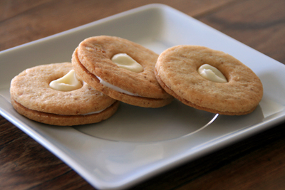 Walnut Cream Cheese Sandwich Cookies