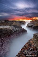 Narrabeen Zigzag (-yury-) Tags: ocean sea sky cloud seascape beach water rock sunrise canon landscape sydney wave australia nsw 5d zigzag narrabeen     abigfave ultimateshot