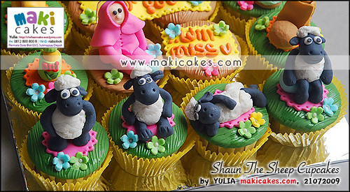 Shaun The Sheep Cupcakes - Maki Cakes