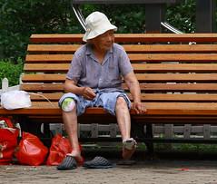 _MG_3182 (BJ Jones Adventure) Tags: china people fish man bird water animal canon boat shanghai religion culture tibet oldwoman yunnan 40d