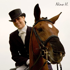 Together (Nino H) Tags: horse canada girl smile sport cheval quebec competition beaut qubec fantasia chic elegant fille sourire chevaux lgance dressage quitation eeasterner