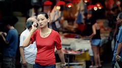 Red [Explored] (~Ken Tsang~) Tags: lighting street red hk hongkong market bokeh candid central streetphotography explore marketplace cinematic 105mm explored d700 afdcnikkor105mmf2d capturenx2 homersbeautyofwoman