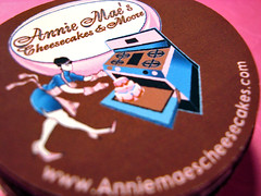 annie mae's cheesecakes - box labels