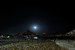 Moonlight on the beach (Tati@) Tags: beach walking moonlight spiaggia cagliari tati poetto chiarodiluna saand annatatti