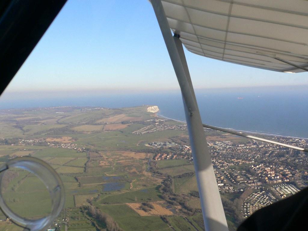 Departing Sandown Airfield