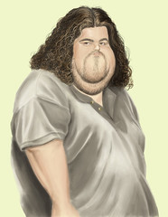Hurley WIP (Mark Hammermeister) Tags: television photoshop painting lost tv paint workinprogress wip digitalpainting scifi caricature abc timetravel sawyer dharma locke hurley jorgegarcia dharmainitiative jjabrams damonlindelof carltoncuse