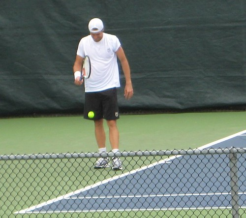 Tommy Haas training at Montreal Rogers Cup