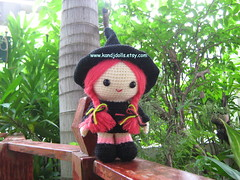 Jazzy the witch, Amigurumi pattern for Halloween (K and J Dolls) Tags: doll witch crochet pop amigurumi geschenk muster disegno patron puppe strega bruja anleitung hexe poupe heks motivo croch hkeln patrn sorcire pupazzi ganchillo uncinetto gurumi atterns hkelanleitung amigurumiwitch