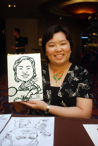 Caricature live sketching for Standard Chartered Bank - 13