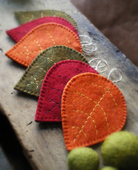 fall coasters (lilfishstudios) Tags: autumn fall nature leaves leaf recycled handmade craft homedecor coasters reclaimed feltedwool lilfishstudios feltedwoolsweater feltedwoolcoat
