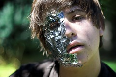35/365 (geewillikersjett) Tags: boy portrait metal raw photographer jett teen tinfoil teenage roboboy iphotooriginal
