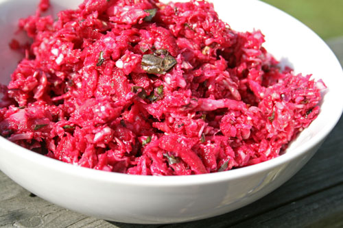 Light and Crisp: Vinaigrette Beet Slaw