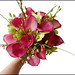 Pink Mini Calla Lilies, Green Dendrobium Orchids