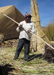 At Uros Islands IMG_0710 (grebberg) Tags: peru reed uros urosislands titicaca island july andes indians 2009 reedisland