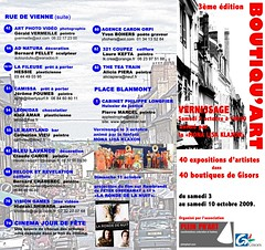 Flyer Boutiquart 2009 recto