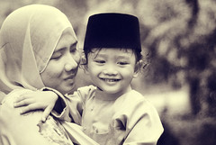 HaiQal | Eid-uLFitri Mood (wazari) Tags: boy portrait blackandwhite cute art classic texture love monochrome smile face sepia photoshop vintage children mono nikon toddler asia mood child emotion artistic expression availablelight candid hijab naturallight son retro portraiture myson malaysia stunning lovely emotional hariraya asean aidilfitri anakku malay wajah lelaki syawal eidulfitri alchemist photoshopart naturallightphotography hitamputih haiqal ilovemyson malaykid muslimkid artofportraiture anakmelayu wazari anaklelaki malaysiakid wazariwazir aseankid artofediting