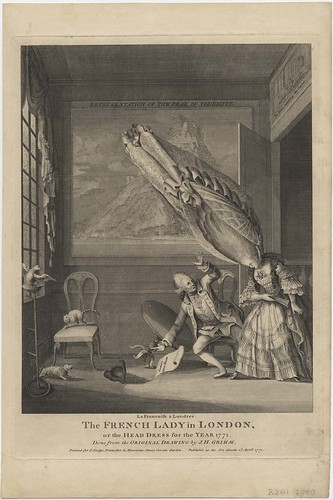 La Françoise à Londres. The French Lady in London, or the Head Dress for the Year 1771