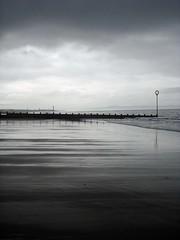 Edinburgh Beach (MattJP) Tags: sea blackandwhite